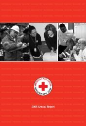 FY 2006 Annual Report - American Red Cross