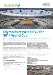 Olympics recycled PVC for 2014 World Cup