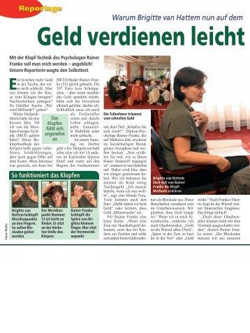 Artikel aus dem Magazin Mach mal Pause 10/2006 - MET nach Franke