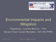 Environmental Impacts and Mitigation Rapporteur - ATM Seminar