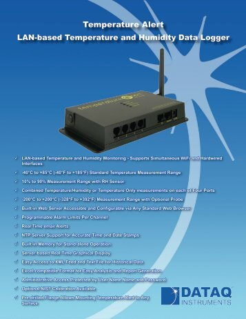 Temperature Alert LAN-based Temperature and Humidity Monitor