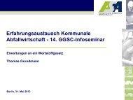 Herr Grundmann - Erwartungen an ein ... - GGSC Seminare