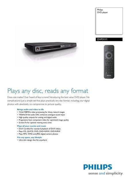 Dvp311158 Philips Dvd Player