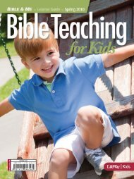 Bible & Me 3s-Pre-K Learner Guide - Spring 2010 - LifeWay