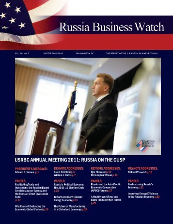 Volume 19, Number 3 - US-Russia Business Council