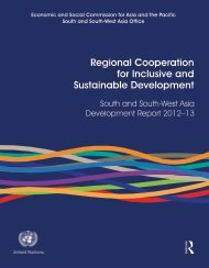 Regional Cooperation for Inclusive and Sustainable Development