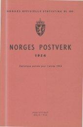 Norges postverk 1954 - SSB