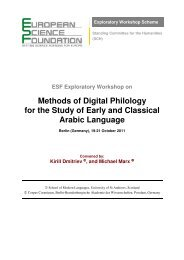 Workshop in Berlin, October 19-21, 2011 ... - Greek into Arabic