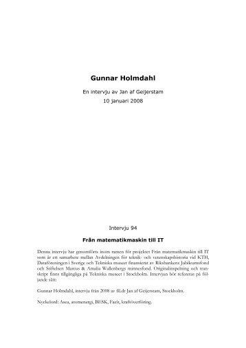 Gunnar Holmdahl - Tekniska museet