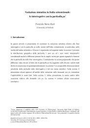 le interrogative con la particella po - Atlante Sintattico dell'Italia ...
