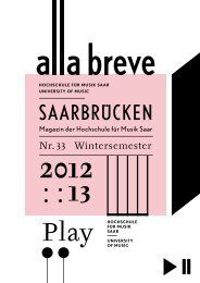 alla breve - Wintersemester 2012-2013