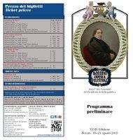 Programma preliminare - Rossini Opera Festival