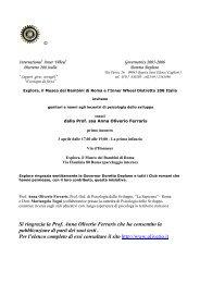 Distr 208° - Forum Explora - Inner Wheel Italia