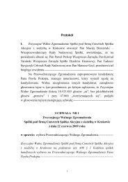 Protokół I. Zwyczajne Walne Zgromadzenie Spółki pod ... - Comarch