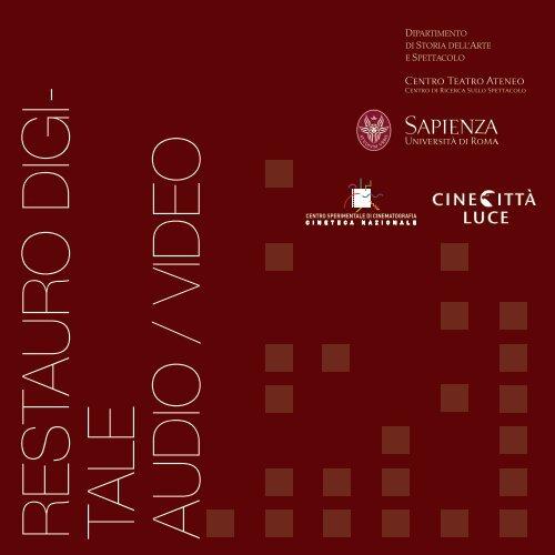 Master Restauro Digitale Audio-Video