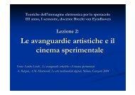 Le avanguardie artistiche e il cinema sperimentale - Dipartimento di ...