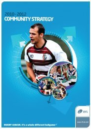 Community Game Strategy 2010 - Rugby Football League