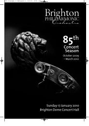 Download Concert Programme - Brighton Philharmonic Orchestra