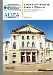 Research at the Bulgarian Academy of Sciences - European ...
