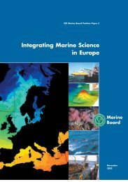 1.1 Drivers for integrating marine science in Europe - European ...