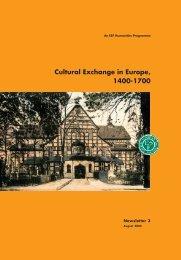 Cultural Exchange in Europe, 1400-1700 - European Science ...