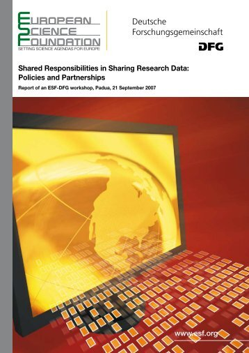 Shared Responsibilities in Sharing Research Data - European ...