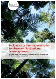 Indicators of Internationalisation for Research Institutions - European ...
