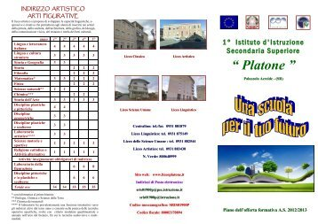 Brochure POF 2012/2013 - Liceo Platone