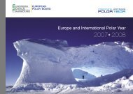 Europe and International Polar Year - European Science Foundation