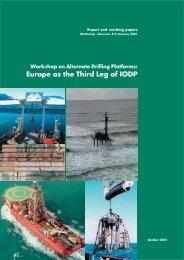 Europe as the Third Leg of IODP - European Science Foundation