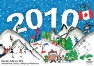 Olympic Calendar 2010 International Society of Olympic Historians