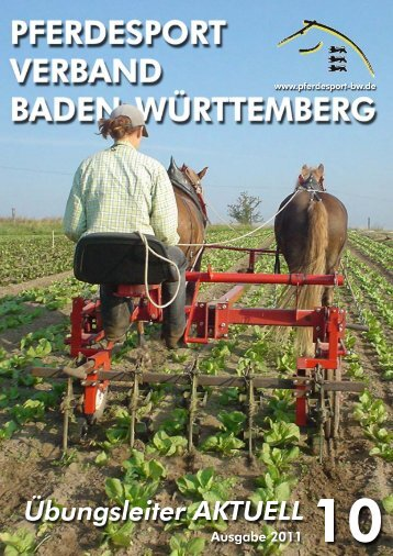 Übungsleiter aktuell Oktober 2011 - Haupt- und Landgestüt Marbach