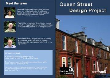 Dumfries street design newsletter - Sustrans
