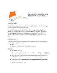 summer language and literacy camp- 2010 - Montreal Fluency