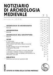 notiziario di archeologia medievale - Istituto di Storia della Cultura ...