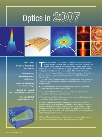 Optics in - SFSU Physics & Astronomy - San Francisco State University