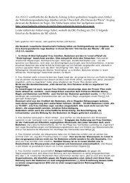 Schriftverkehr - Deutsch-Israelische Gesellschaft Freiburg