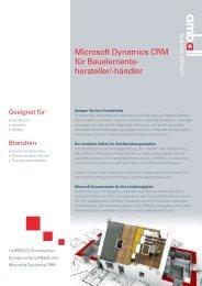 Microsoft Dynamics CRM für Bauelemente hersteller ... - it-auswahl.de