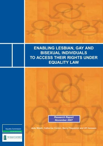 enabling lesbian, gay and bisexual individuals to ... - Equality Authority