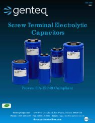 Screw Terminal Electrolytic Capacitors - Richardson RFPD