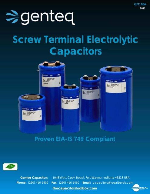 Screw Terminal Electrolytic Capacitors - Richardson RFPD