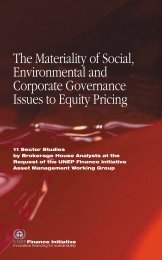 The Materiality of Social, Environmental and Corporate Governance