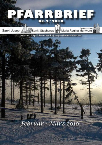 Download Pfarrbrief-2010-02.pdf - St. Joseph, Siemensstadt