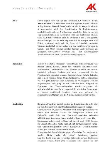 Lebensmittelbegriffe von A  bis Z (pdf/64 kb