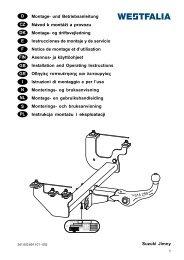 Suzuki Jimny D Montage- und Betriebsanleitung Návod k montáži a ...