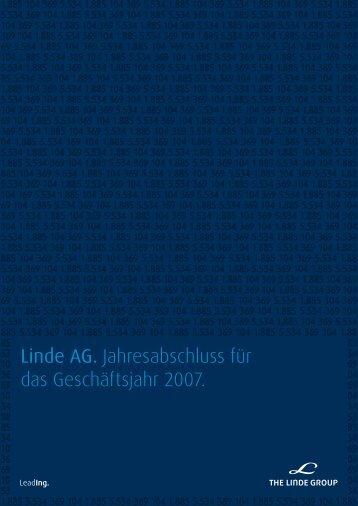 Linde AG. Jahresabschluss für das Geschäftsjahr ... - The Linde Group