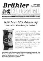 Amtsblatt KW23 2007 - Gemeinde Brühl