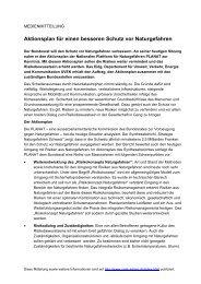 Medienmitteilung (deutsch) - Planat