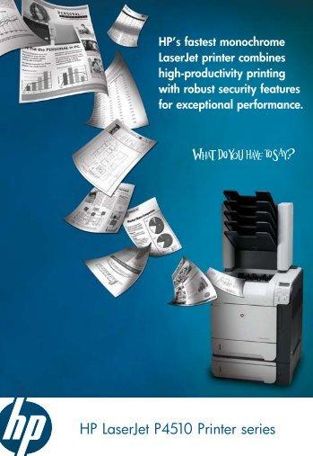 HP LaserJet P4510 Printer series - Printer Repairs Sales & Service