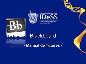 Manual para Coordinadores y Tutores - Tecnológico de Monterrey